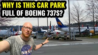 WHY IS THIS CAR PARK FULL OF BOEING 737s?