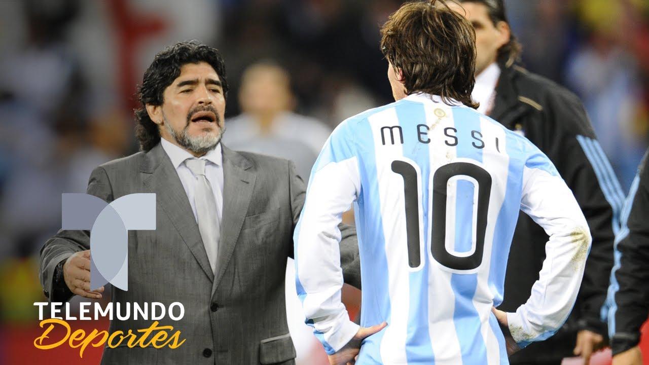 El tributo de Lionel Messi a Diego Armando Maradona | Telemundo Deportes