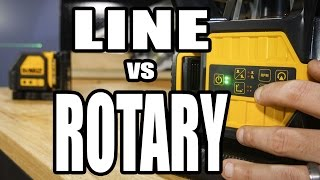 When to Use a Cross Line Laser vs a Rotary Laser