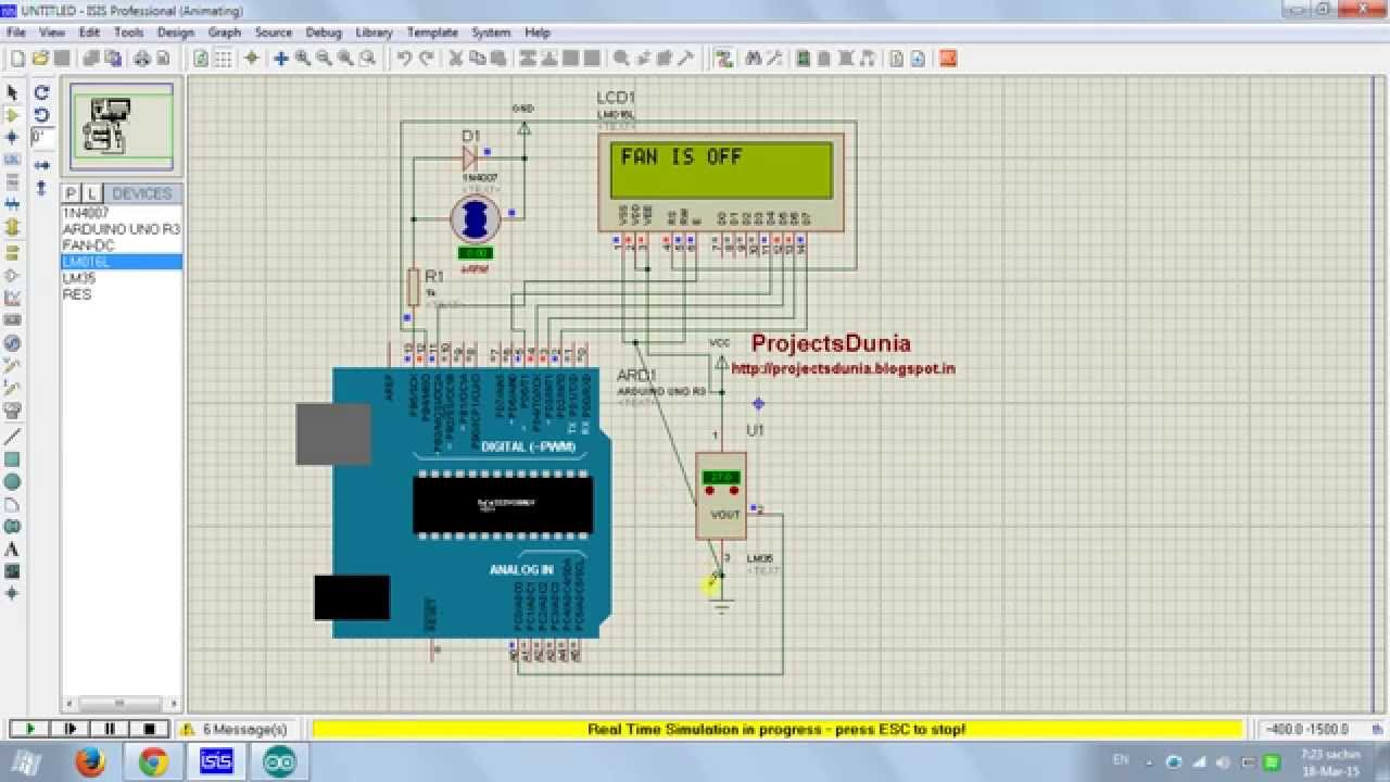 arduino based temperature control automatic fan youtube temperature based automatic fan control circuit diagram [ 1280 x 720 Pixel ]