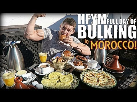 IIFYM Full Day of Eating! Bulking in Morocco