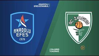 EuroLeague 29. Hafta: Anadolu Efes - Zalgiris