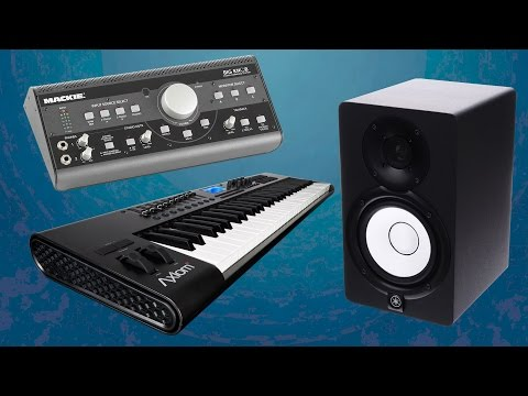 MY MUSIC STUDIO EQUIPMENT / Software Keyboard Monitors Sound Card PC 2015