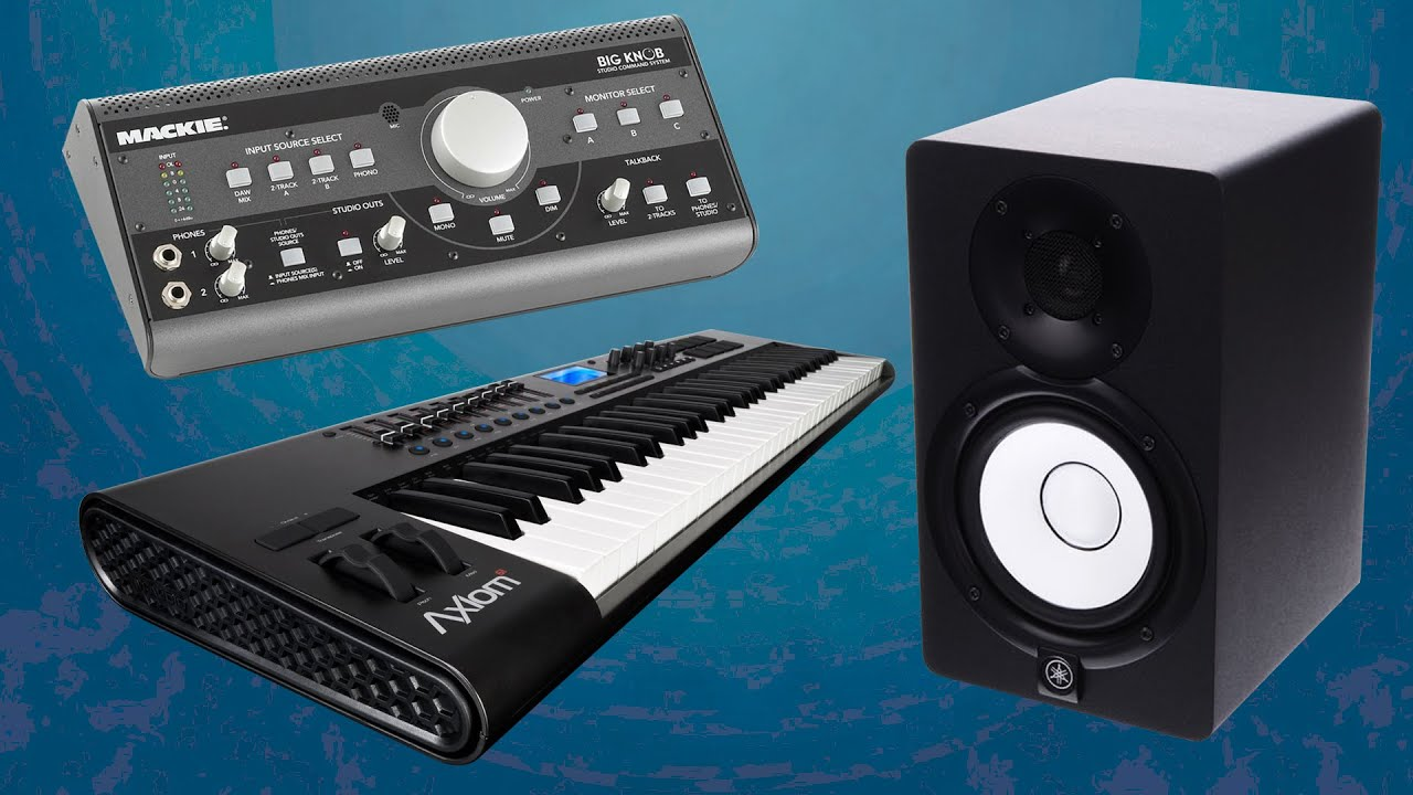 my music studio equipment software keyboard monitors sound card pc 2015 youtube. Black Bedroom Furniture Sets. Home Design Ideas