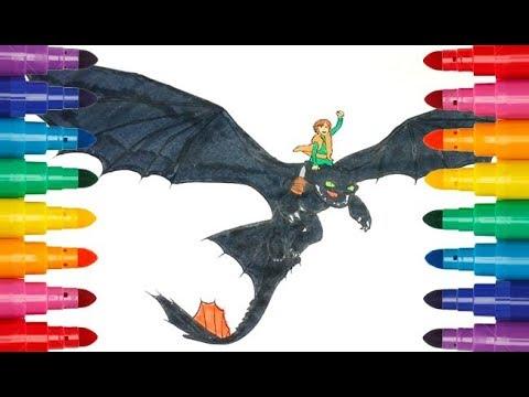 How To Train Your Dragon Interesting Coloring Как приручить дракона Интересная раскраска