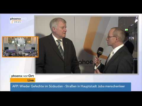 Wahl der Bundeskanzlerin: Horst Seehofer (CSU) im Interview am 17.12.2013