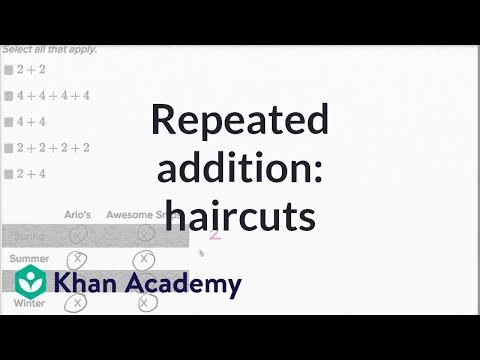 Repeated Addition Example | Addition And Subtraction Within 100 | Early Math | Khan Academy