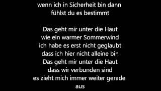Tim Bendzko - Unter die Haut (Lyrics)