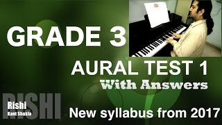Grade 3 - Sample Aural Test 1 with Answer for Trinity Exam (from 2017)