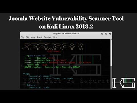 Joomla Website Vulnerability Scanner Tool On Kali Linux 2018.2