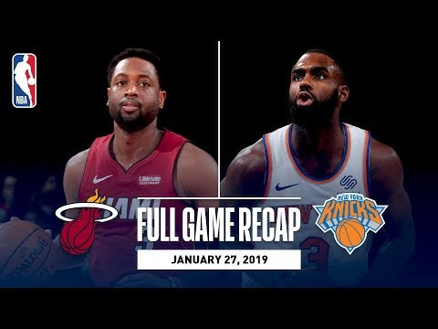 Full Game Recap: Heat vs Knicks | Dwyane Wade Records Double-Double In MSG