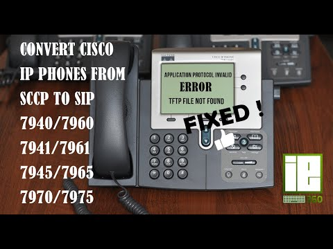 How to convert CISCO PHONE 7940/7941/7960/7961 from SCCP TO SIP using  elastic server
