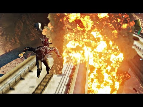 Just Cause 4 - Crashing Train With Massive Plane (1080p 60fps) |