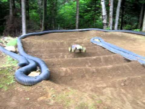 vince rc backyard track t4 1 triple jump youtube