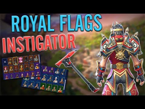 Royal Flags Back Bling On 45 Outfits | Instigator Sound Test - Fortnite