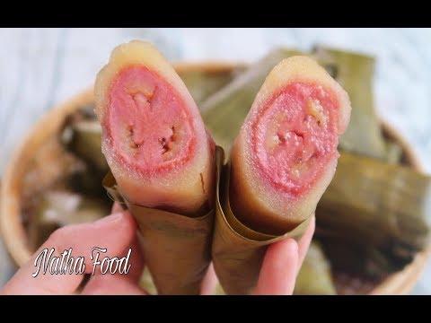 Cách làm Bánh chuối khoai mì, bánh tét khoai mì, bánh của tuổi thơ Miền Tây quê tôi|| Natha Food