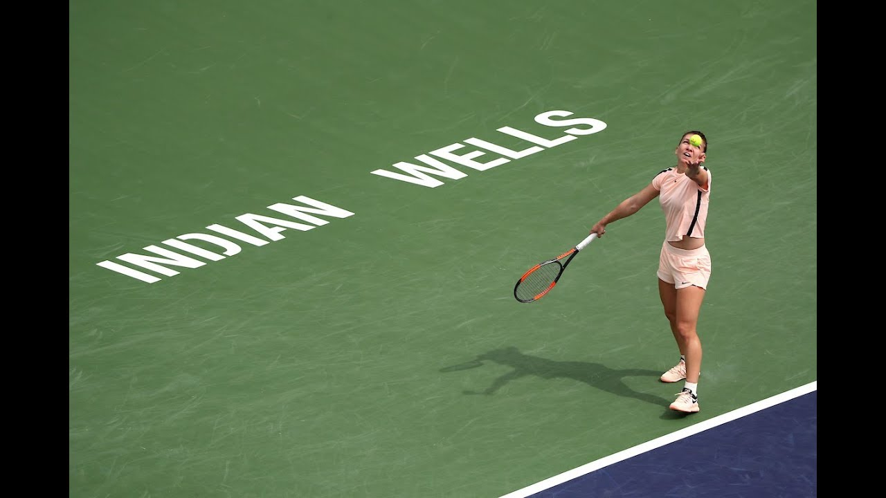 BNP Paribas Open 2018: Simona Halep vs. Qiang Wang | Highlights