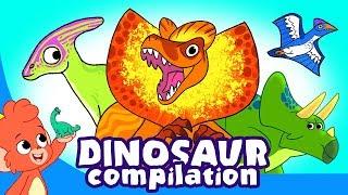 Çocuk   Dinozor Karikatür videoları   t için öğrenmek Dinozorlar-rex, velociraptor   Club Baboo