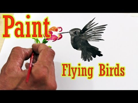 How to Paint Flying Birds Watercolor
