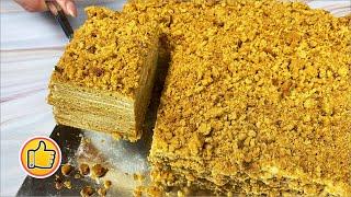Быстрый Торт Медовик за 30 минут Без Раскатки Коржей Honey Cake Recipe