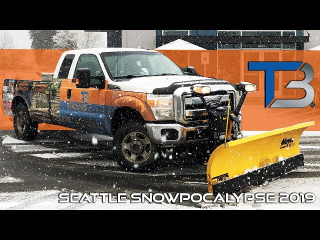 DIY: Snow Plowing the Seattle 2019 Snowpocalypse | Transblue Does it Right