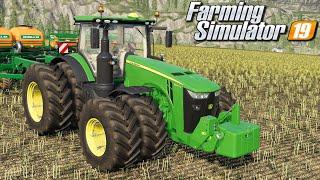 Siew potężnym ciągnikiem - Farming Simulator 19 | #93