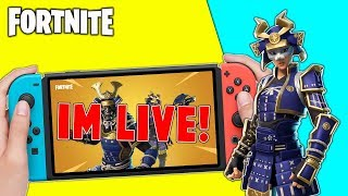 Pro Fortnite Nintendo Switch Player // Pro solo Matches // New Hime Skin + Tips!!