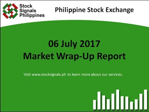 Market Wrap-Up Report - Philippine Stock Exchange - 6 July 2017