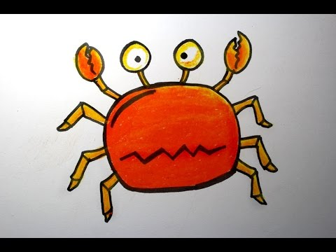 Drawing Idea For Kids Crab Oil Pastels Youtube
