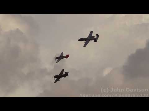 2017 Wings Over Houston Air Show - USAF Heritage Flight (A-10, A-1D, & P-47)