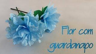 Como fazer Flor com guardanapo