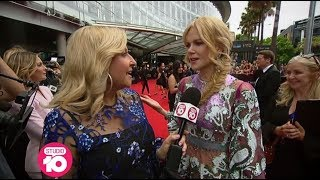 Nicole Kidman, Simon Baker & Tom Gleeson On The AACTA Awards Red Carpet | Studio 10