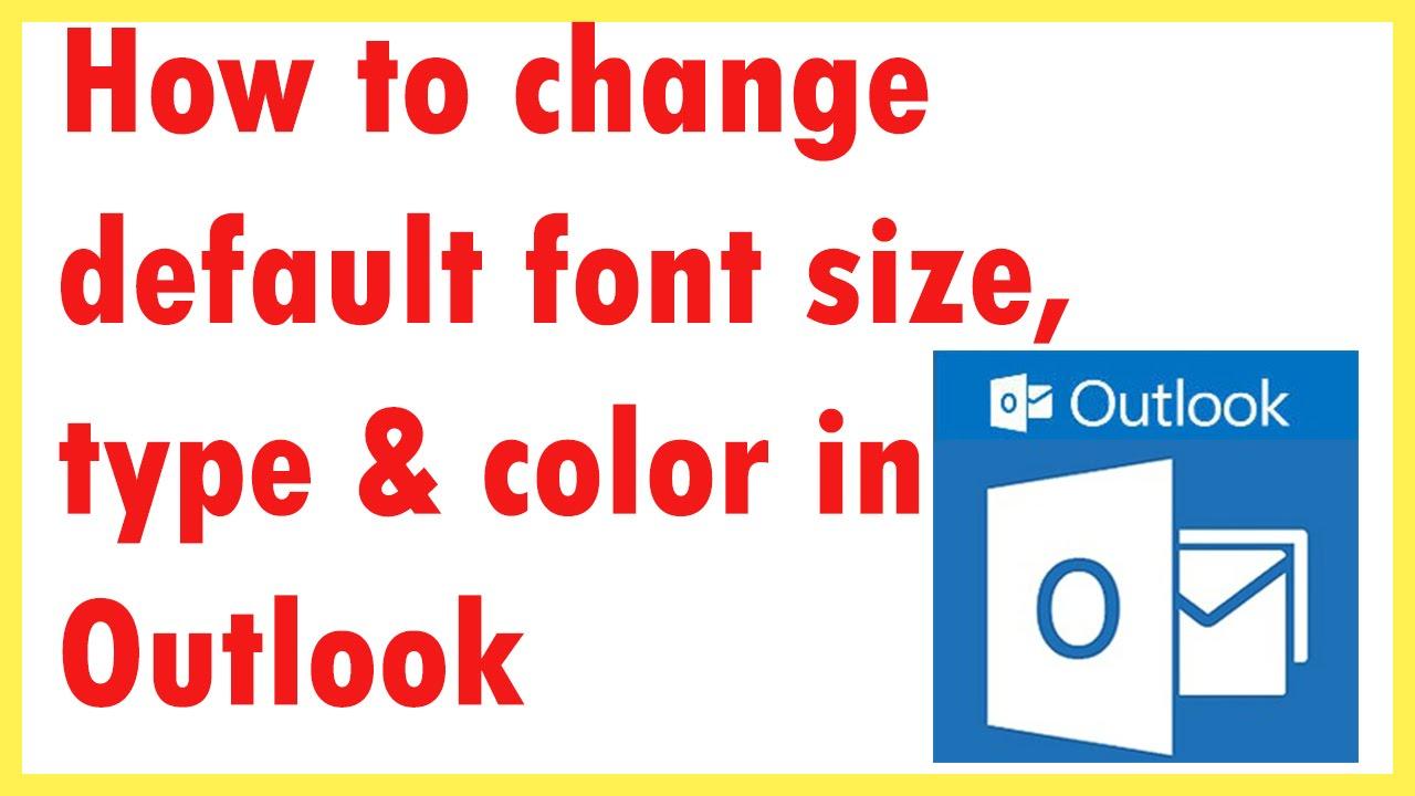outlook default font