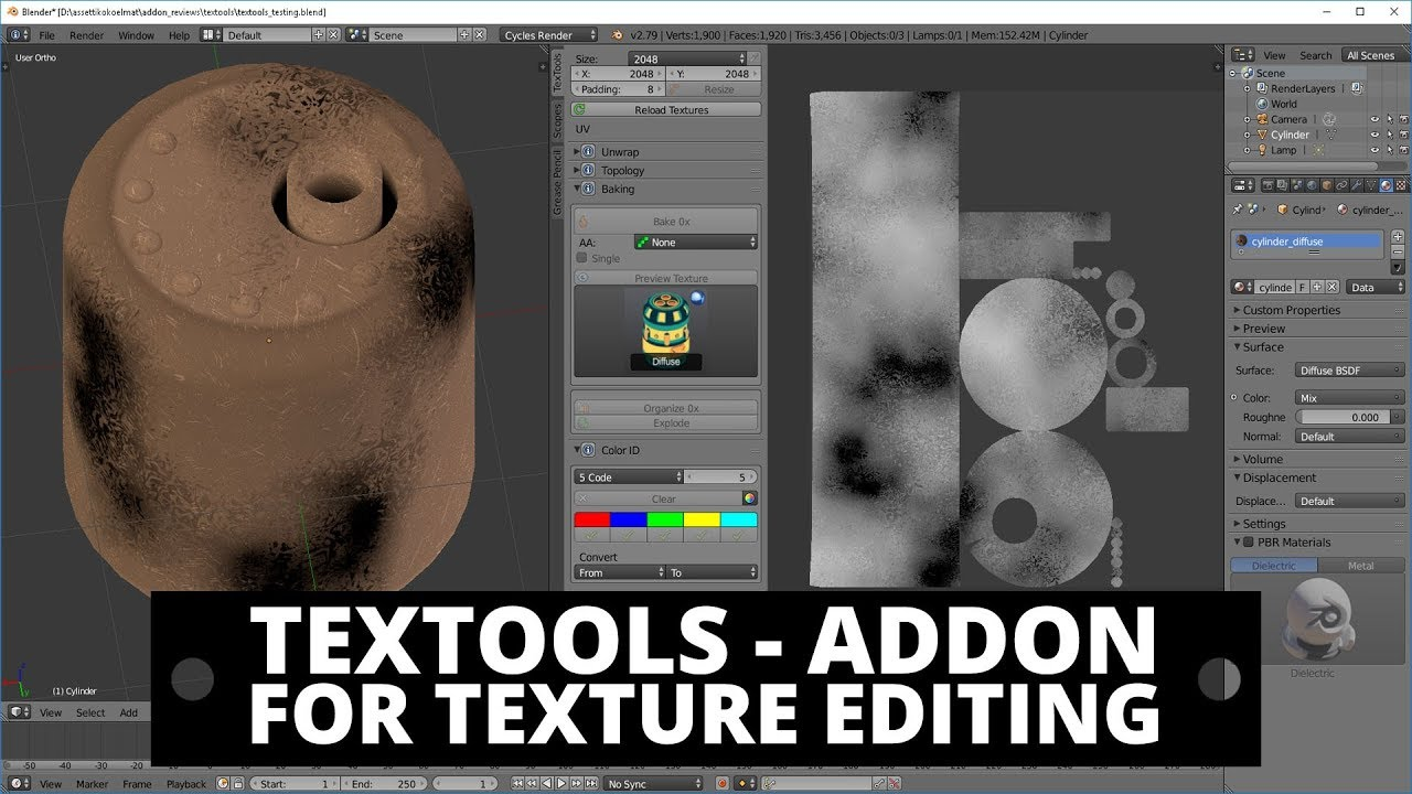 #5 Free blender add-on review: TexTools