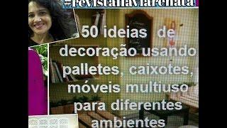 50 ideias e decoração usando paletes e caixotes