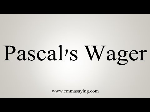 How To Pronounce Pascal's Wager