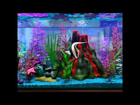 Finding nemo virtual aquarium volcano day youtube for Finding nemo fish tank