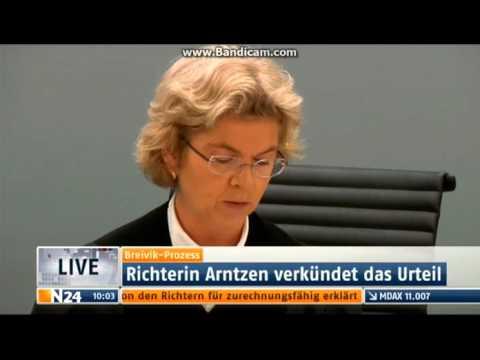 Urteilsverkündung gegen Anders Behring Breivik N24