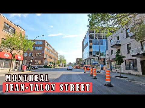 Sunny Day Driving On Jean-Talon Street In Montreal Quebec Canada #jeantalonstreet #montrealdriving