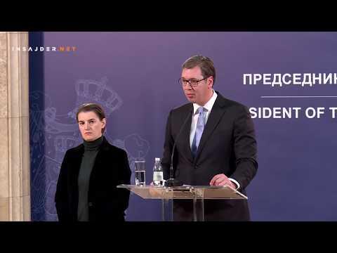 Aleksandar Vučić na pitanja Insajdera o pretnjama Oliveru Ivanoviću, 16. januar 2018.