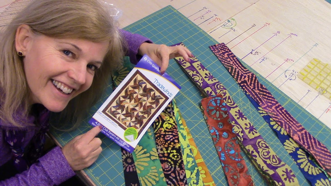 Part 1: Tradewinds Quilt with an Indian Batik Jelly Roll - YouTube : tradewinds quilt pattern free - Adamdwight.com