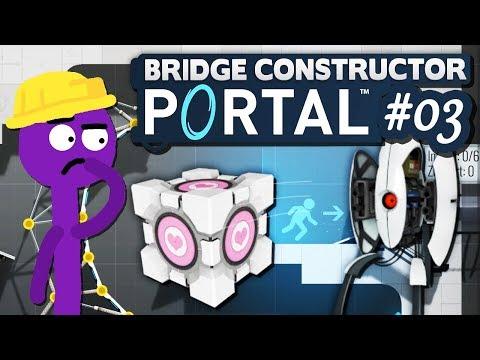 Companion Cube & Turrets!   03   Bridge Constructor PORTAL
