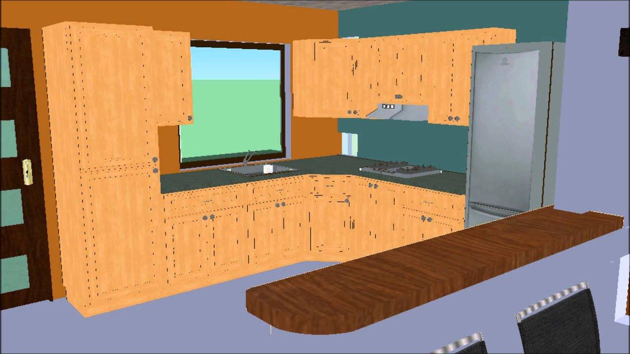 Casa 016 sala cocina comedor bano en planta baja tres for Como hacer un plano de una cocina