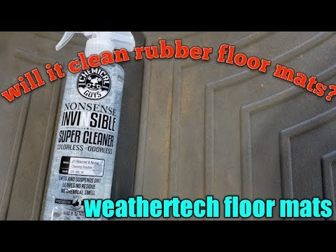 chemical guys cleaning weathertech  floor mats using nonsense