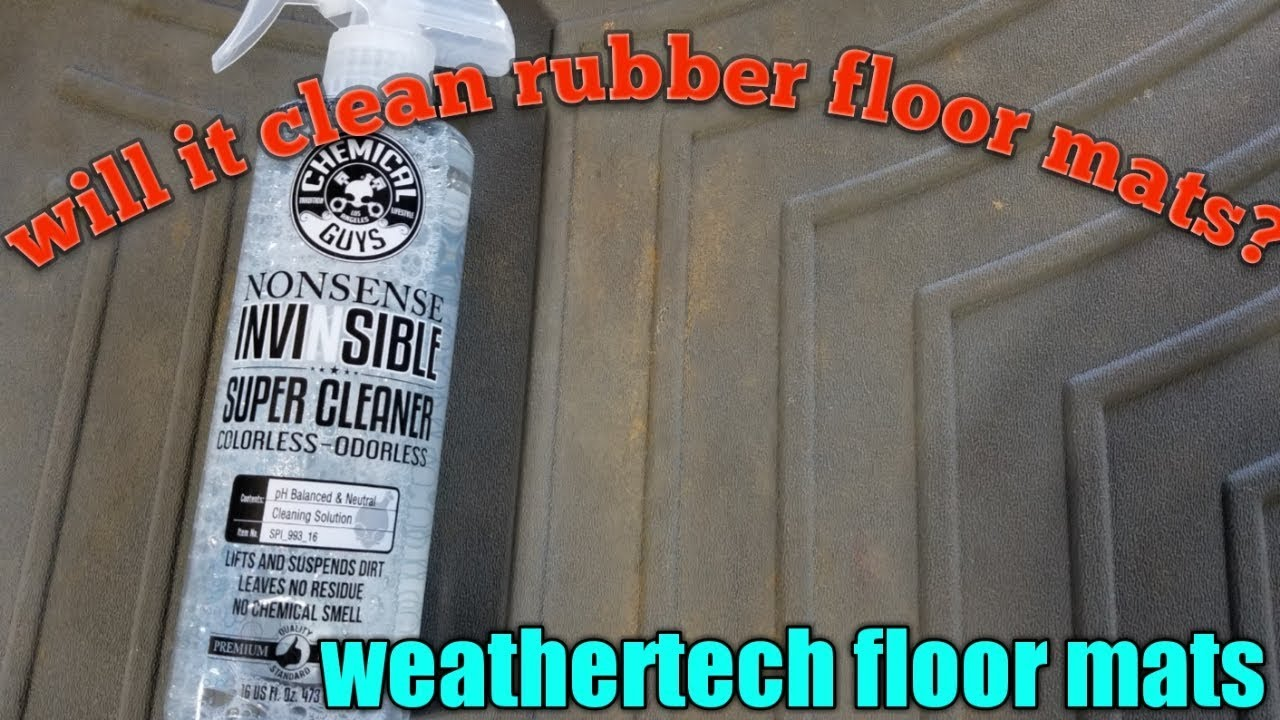Chemical Guys Cleaning Weathertech Floor Mats Using Nonsense Youtube