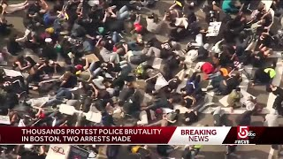 Thousands protest police brutality in Boston