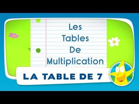 Comptines pour enfants - La Table de 7 (apprendre les tables de multiplication)