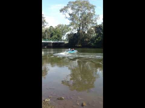cruising on the nerang river with Kevin O'Grady