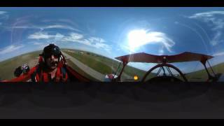 Airshow Practice in 4K 360Fly Video(Ride along with professional airshow pilot Brent Handy on a dizzying low-altitude aerobatic practice! The aircraft is a Pitts S-2B biplane. Brent is a Transport ..., 2016-06-15T04:15:15.000Z)