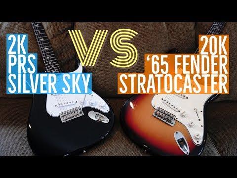 2K PRS Silver Sky VS 20K '65 Fender Stratocaster - John Mayer Strat / Tim Pierce